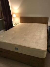 king size bed with mattress good condition