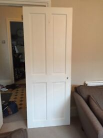 Victorian four panel wooden doors (two available @ £10 each)