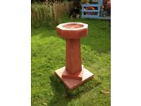 red bird bath