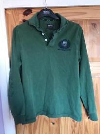 Barbour Polo Club Long Sleeve Men's Medium