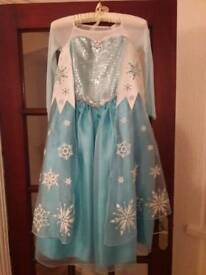 Frozen- Elsa dress and hair