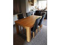Next Barlow Dining Room Table 4x Moda II Chairs