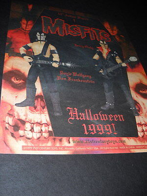 MISFITS Halloween 1999 PROMO DISPLAY AD mint - Misfits Halloween Show