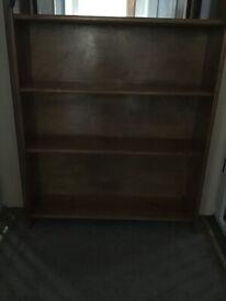 solid three shelf bookcase