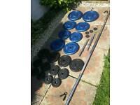 105 kg cast iron weighs , barbell, dumbbells