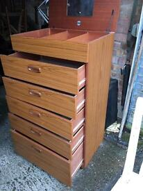 """VINTAGE """" SCREIBER"""" CHEST OF DRAWERS/DRESSING TABLE/FREE DELIVERY DRESSER 🇬🇧"""