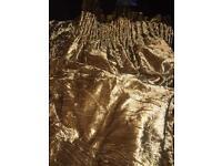 Crushed velvet curtains