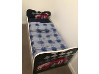 Boys car bed with storage drawer