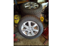 "NEW alloy wheels and tyres, 16"" Nissan X-Trail"