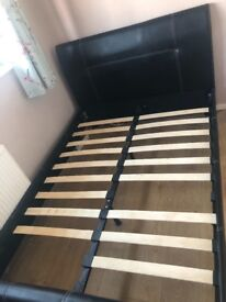 4ft6 double bed frame - mattress not included .