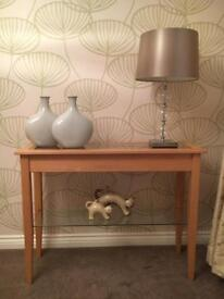 Console table -with glass shelf