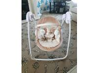 Mothercare Teddy Toybox Baby Swing