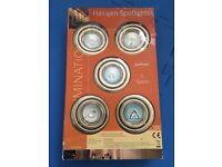 Halogen Spot Lights - set of 5