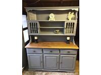 Wooden dresser painted grey