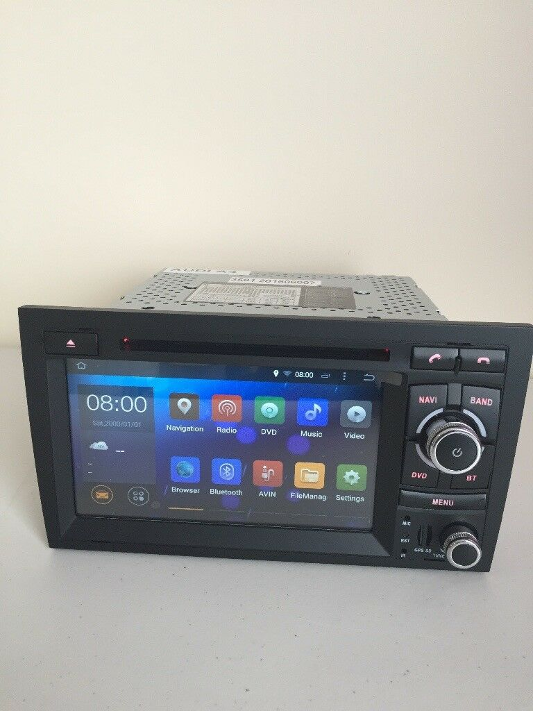 Audi A4 Android Car DVD Player /internet / Radio Quad Core Full Sat Nav Bluetooth Aux Usb Sd