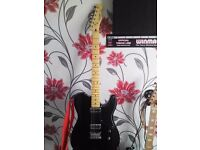 Fender Squire Carbronita Telecaster as new , All Black ,, with free Amp !!