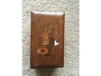 Antique vintage wooden box