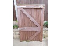 Wooden Gate - 90cms x 140 cms (includes hinges and bolt) - Loughborough