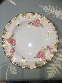 4 Royal Crown Derby Pinxton Rose Side Plate. 8inch. Perfect Condition.