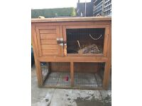 Rabbit Hutch and 8 ft x 6ft run.