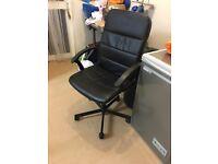 Swivel black desk chair from IKEA
