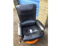 Black High Back Massage Chair.