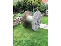 Large timber cable reels