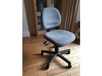 Office chair - grey padded. Fully adjustable all round. £10
