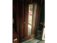 solid wood large wardrobe and two chest of drawers