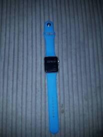 Apple Watch Sport 42mm Aluminium Case Blue Sport Band