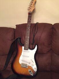 Great Harley Benton ST sunburst electric guitar