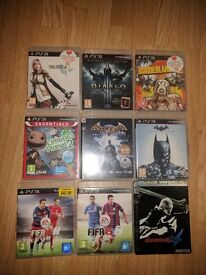 9 PS3 Games for sale