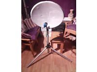 Portable satellite dish