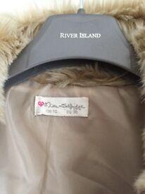 Miss Selfridge Women's faux fur jacket