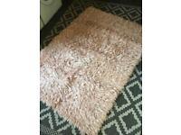 Pink glitter rug
