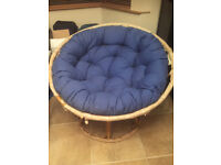 """LOVELY PAPASAN """"MOON"""" CHAIR LESS THAN 6 MONTHS OLD NEVER USED"""