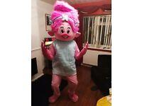 Troll adult poppy mascot