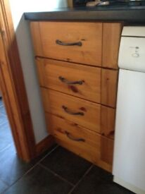 Smoked oak kitchen cupboard doors and drawer fronts