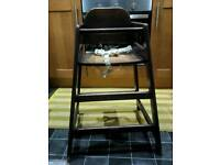 Pair of high chairs, the same as the ones that cafeterias and McDonald's have...