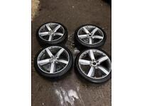 Audi A1 5x100 17 inch alloys wheels competition alloys