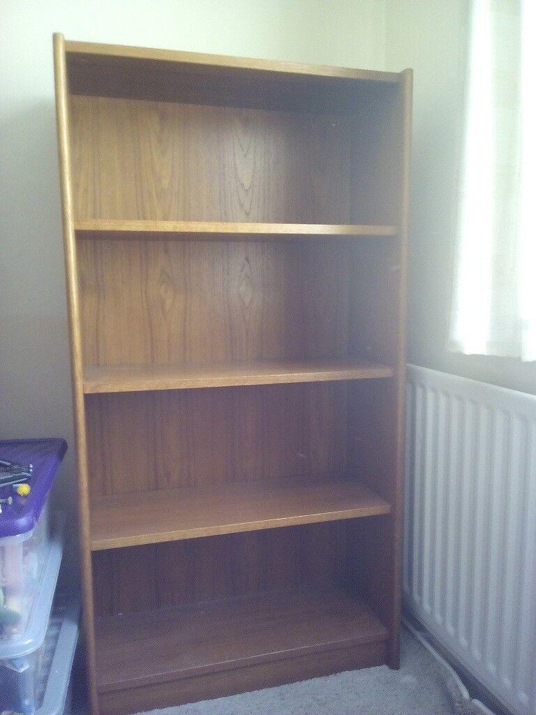 Teak Vintage Retro Bookcase Danish Style Bookshelf Used