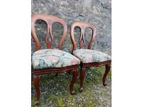Victorian balloon back chairs