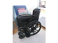 Black Self Propelled Wheelchair with Puncture Proof Mag Wheels