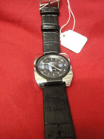 Gents designer watch by DIESEL with new black leather strap GREAT OFFER!