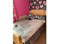 4pc Bed set 4ft bed wardrobe drawers bedside table