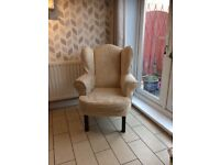 Goose feather sofa and matching armchair