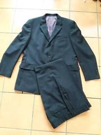 Men's grey pinstripe suit (Scott and Taylor)