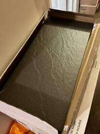 4 x Black Matt Floor Tiles B&Q Chambly