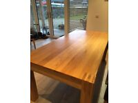 Chunky Solid Oak Dining Table 180cm x 90cm