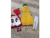 Baby pineapple and apple costume 3-6 months